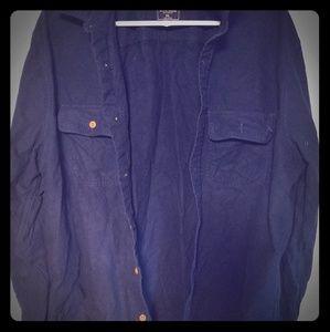 Men's Chamois Shirt XXL Abercrombie